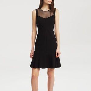 Kenneth Cole black illusion meshcocktail dress